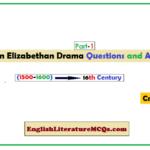 MCQs on Elizabethan Drama (Part-1)