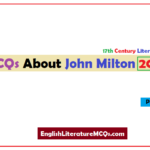 MCQs About John Milton Multiple Choice Questions and Answers 2021
