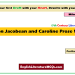 MCQs on Jacobean and Caroline Prose Writers