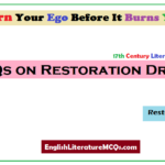 MCQs on Restoration Drama Questions and Answers