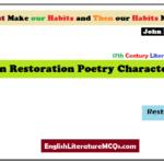 MCQs on Restoration Poetry Characteristics