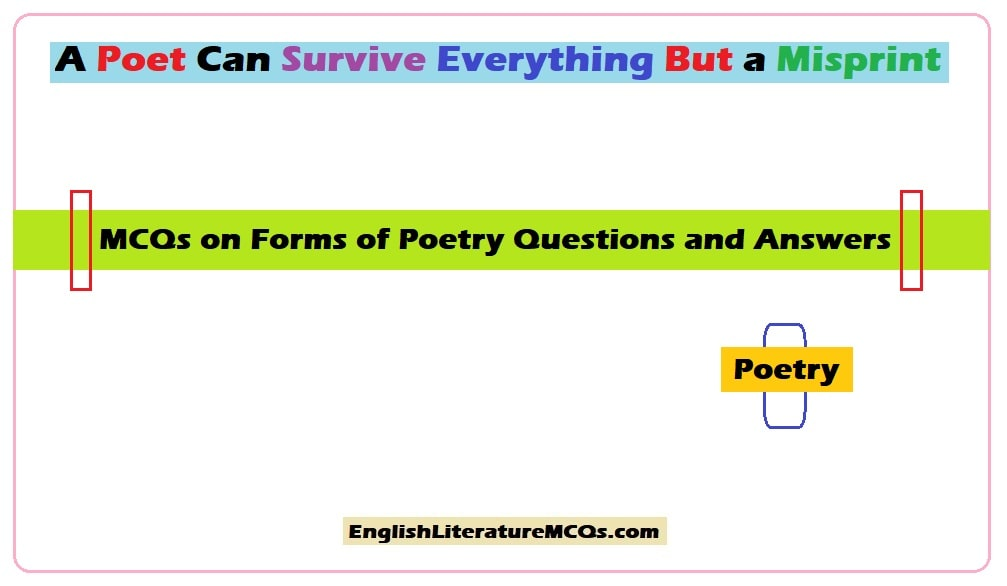 MCQs on Forms of Poetry
