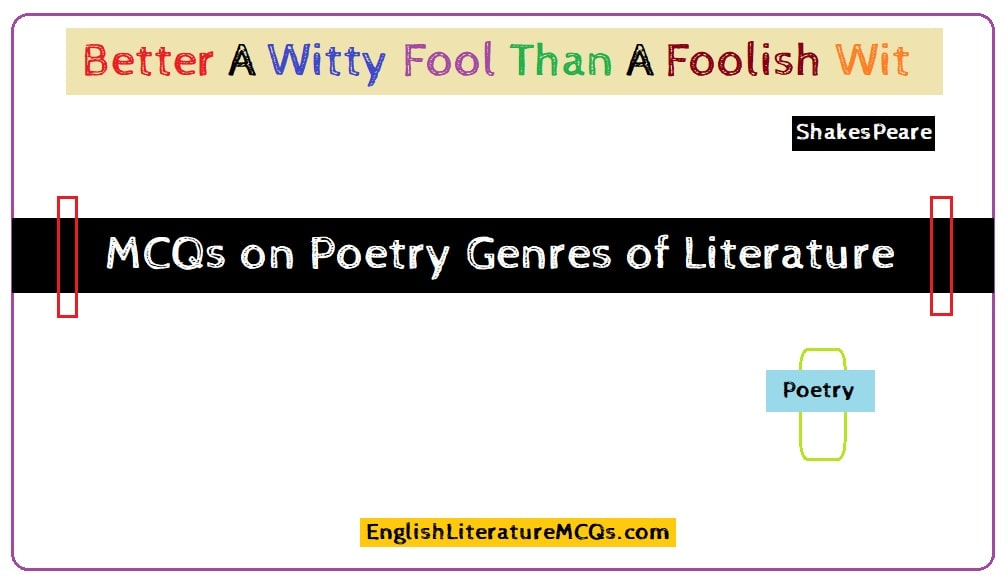 MCQs on Poetry Genres of Literature