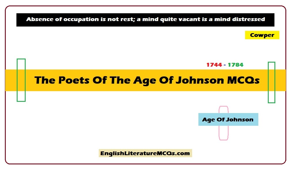 The Poets Of The Age Of Johnson MCQs