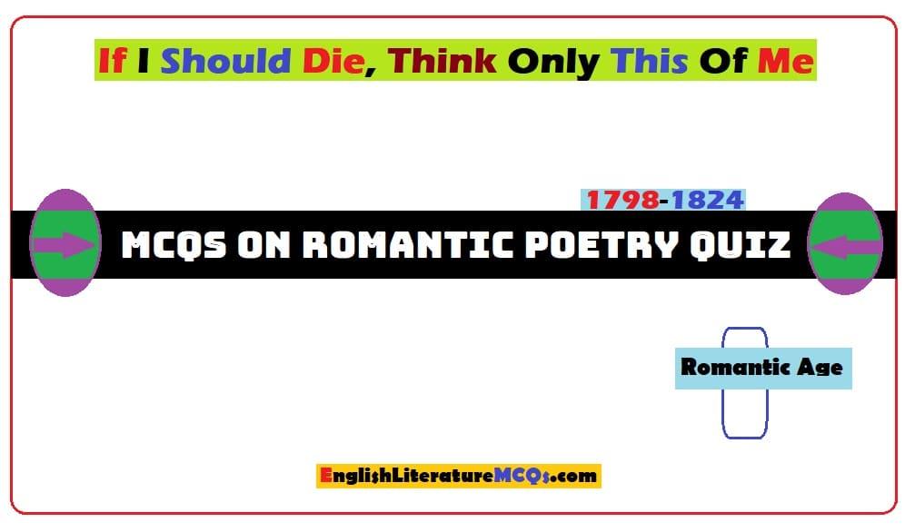 MCQs on Romantic Poetry Quiz