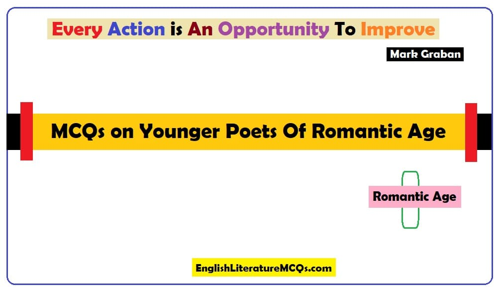 MCQs on Younger Poets Of Romantic Age
