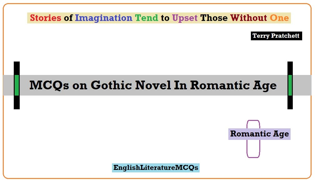 MCQs on Gothic Novel In Romantic Age